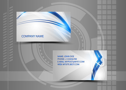 Modern style abstract business cards vector free vector in adobe modern style abstract business cards vector reheart Choice Image