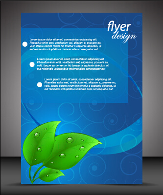 modern style blue flyer cover vector
