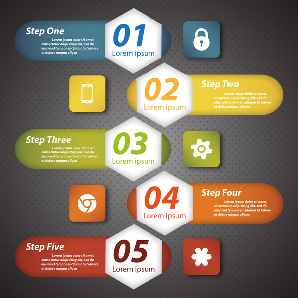 modern style infographic design template