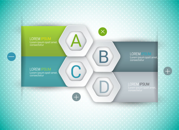 modern style infographic design with 3d background