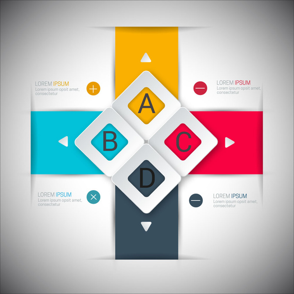 modern style infographic design with 3d colorful arrangement