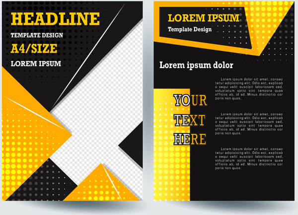 modern template design on dark black background free vector in adobe