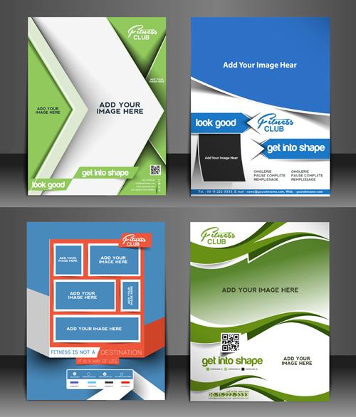 modern templates flyer cover vector