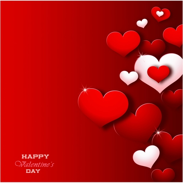 Modern Valentine S Day Background Free Vector In Adobe Illustrator