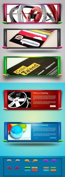 modern web slider psd