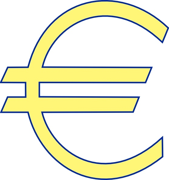 Monetary Euro Symbol Clip Art Free Vector In Open Office Drawing Svg