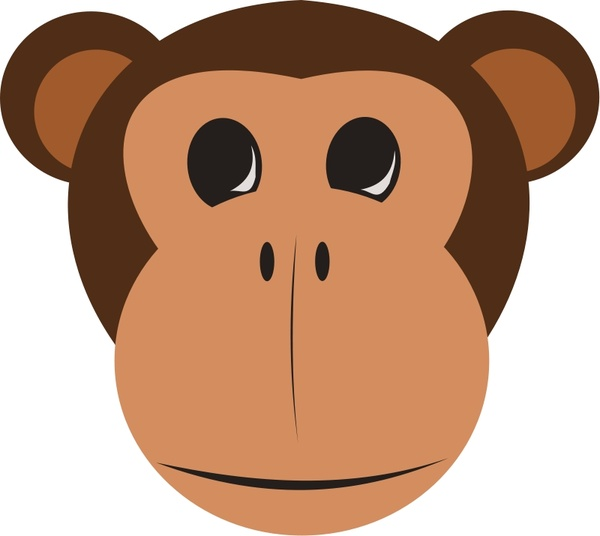 Monkey Face Free Vector In Open Office Drawing Svg Svg
