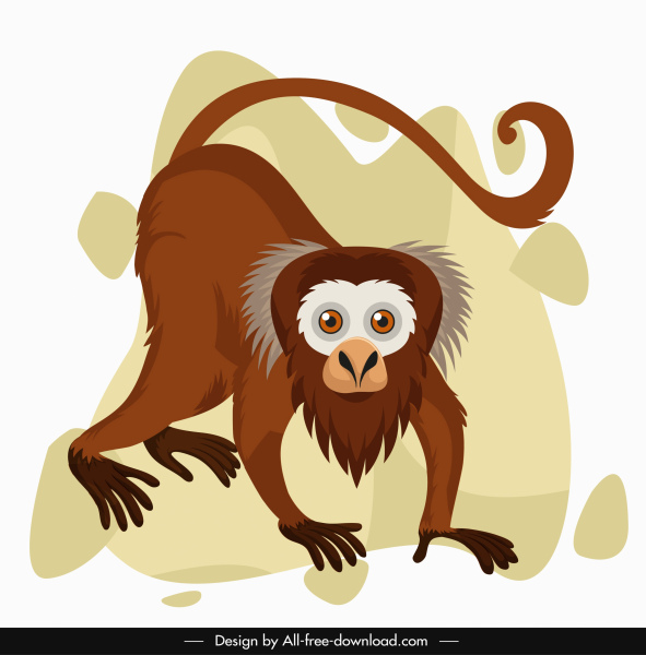 monkey icon funny design cartoon character sketch