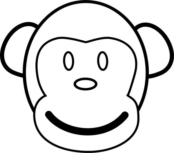 Nice Monkey Line Art