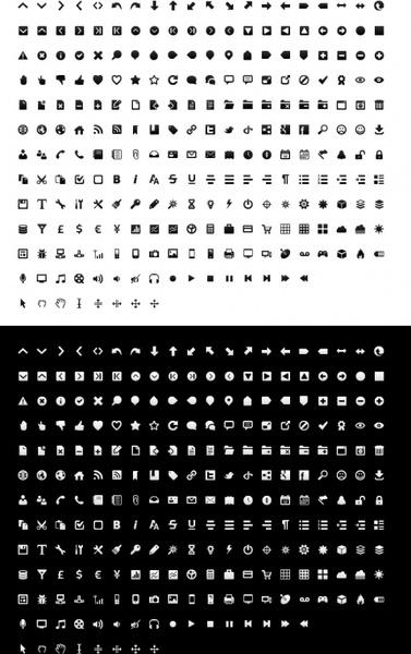 mono icon set icons pack