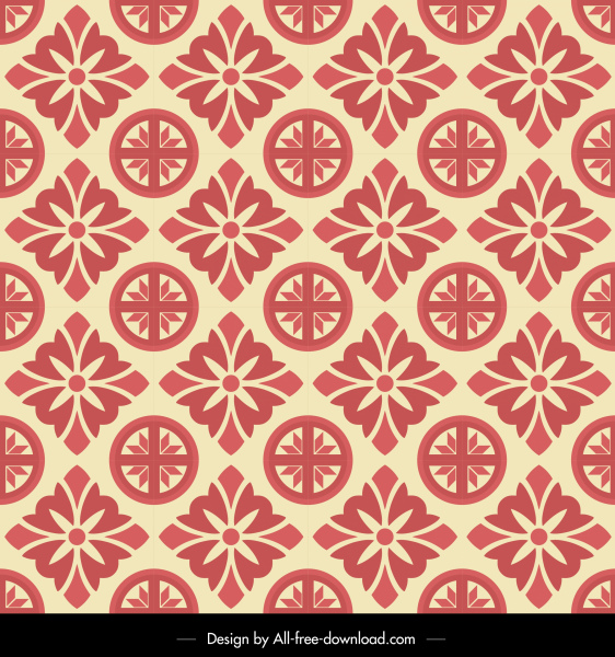monochrome pattern flat retro repeating elements