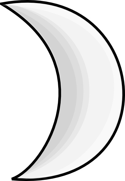 Moon Crescent Clip Art Free Vector In Open Office Drawing Svg G