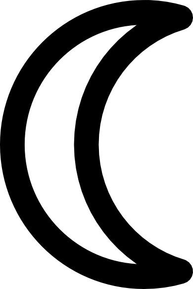 Moon Symbol Decrescent Clip Art Free Vector In Open Office
