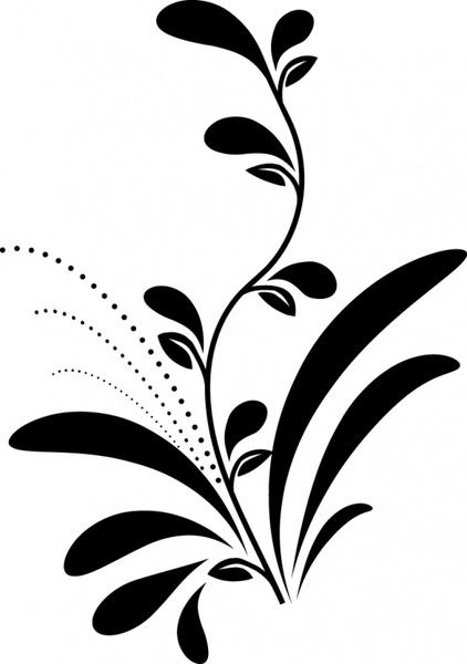 flower painting black white flat petal sketch