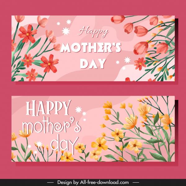 mother day card templates elegant botanical decor