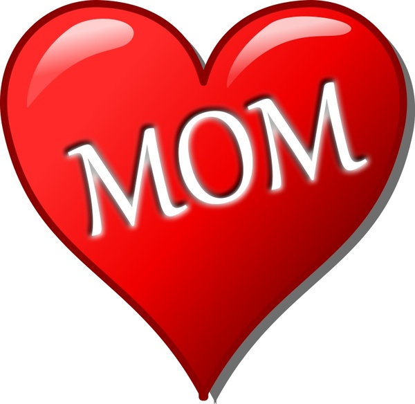 mother s day heart free vector in open office drawing svg svg