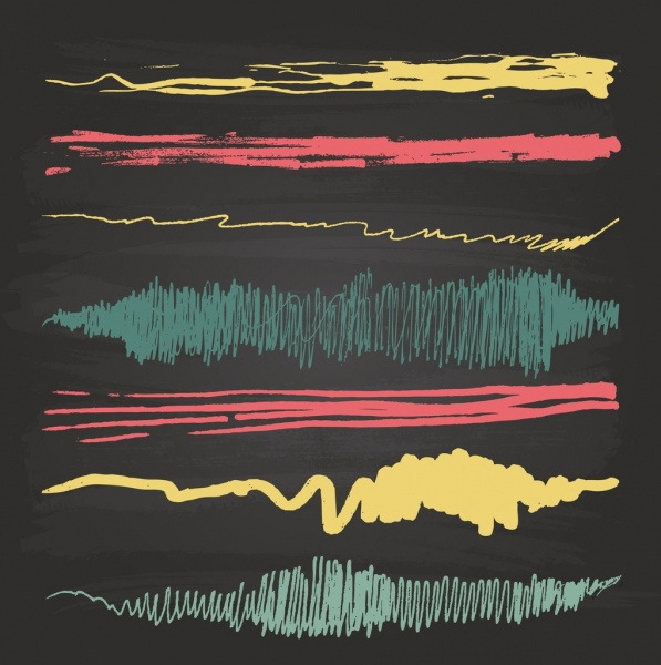motion design elements various colored abstract decor