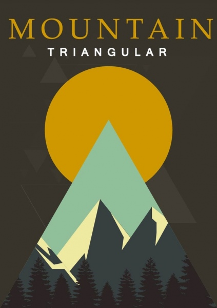 mountain landscape background triangle decor