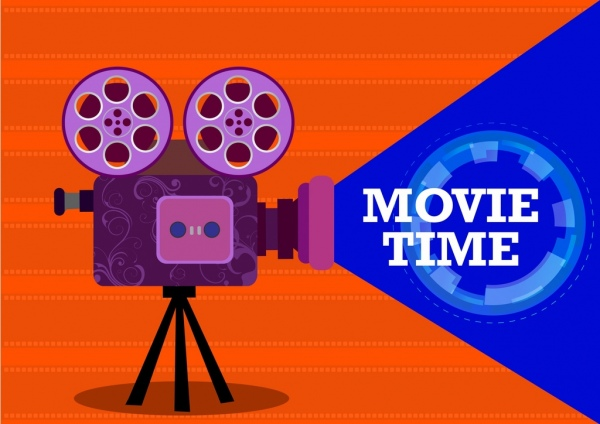 Movie time background colored cine projector icon free - Commercial wallpaper pasting machine ...