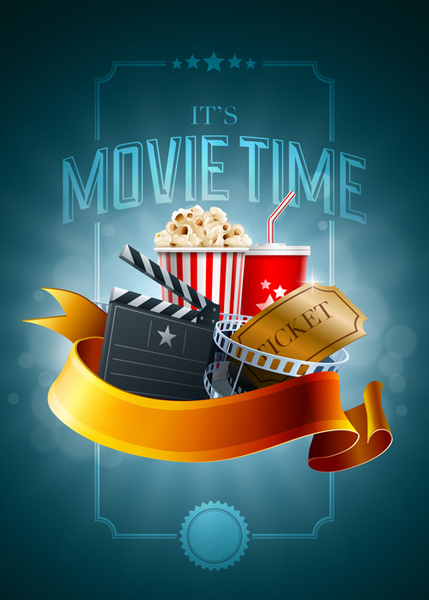 movie vector backgrounds ticket background cinema elements poster night tickets template graphics format star its graphic illustration evenings material concept