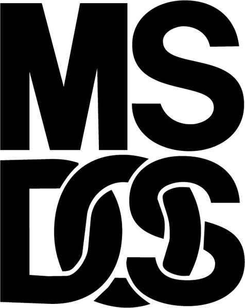 ms dos 0 free vector in encapsulated postscript eps ( .eps