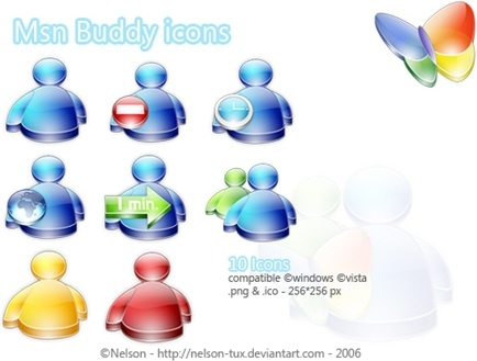 Msn Buddy Icons icons pack