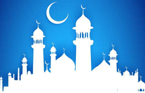 mubarak islam background design vector