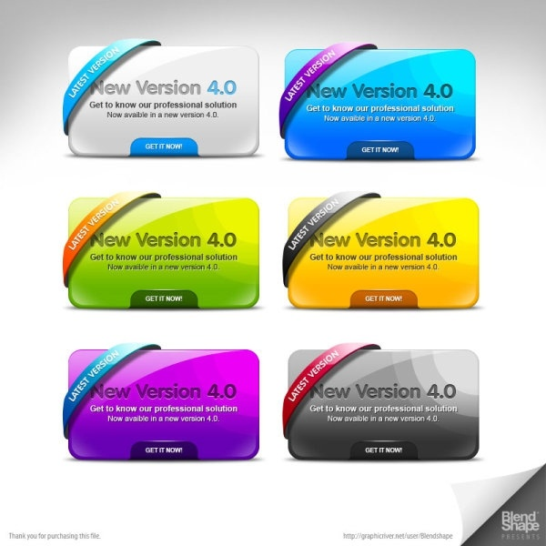 multicolor pages decorated module psd layered 3