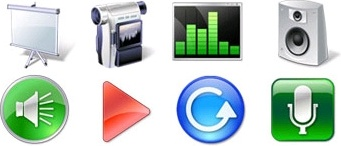 Multimedia Icon Set icons pack