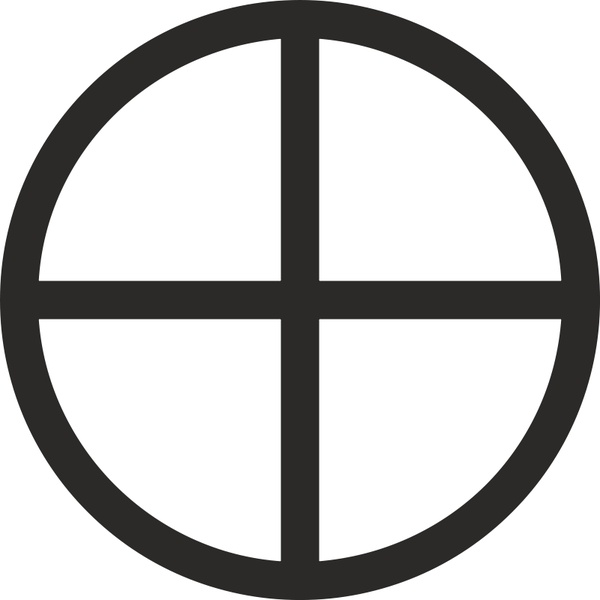 Mundane Cross Encircled Free Vector In Open Office Drawing Svg