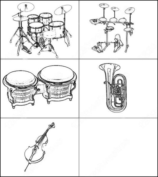 music instruments brush