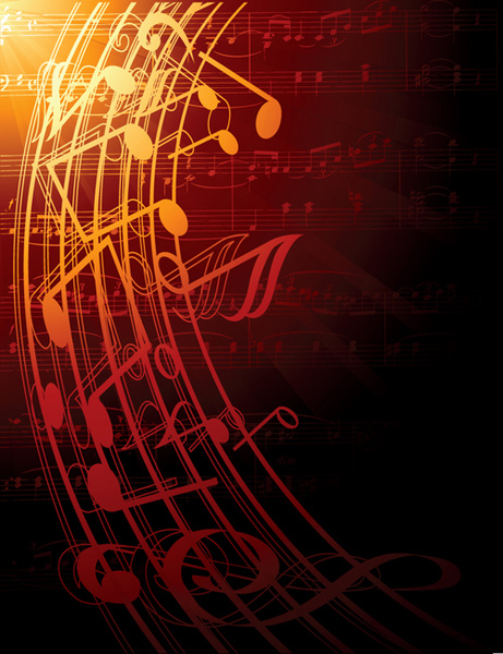 Music note and sheet music background vector Free vector ...