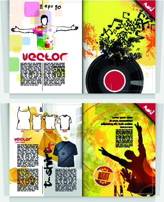 Music party magazine cover vector Free vector in Encapsulated