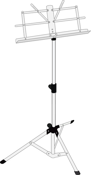 Music Stand Free Vector In Open Office Drawing Svg Svg Vector