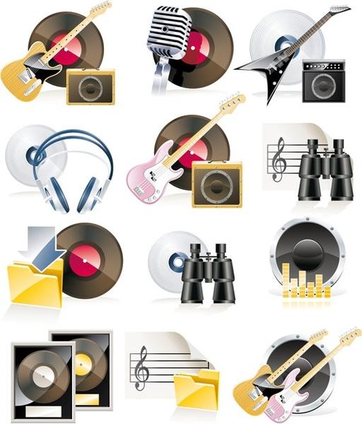 music theme icon vector