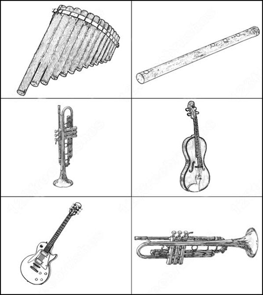 musical instruments brush
