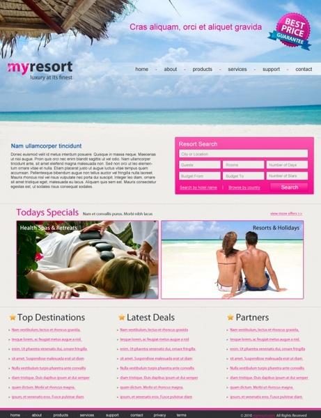 My Resort – Free PSD Template