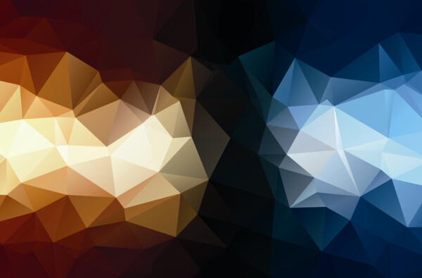 mystic polygonal abstract background set