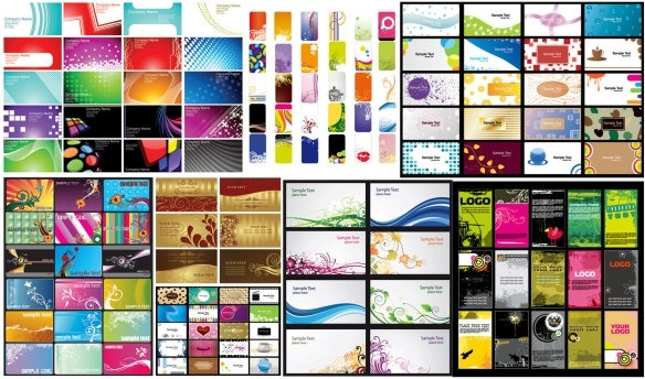 n a variety of card business card background vector