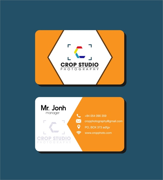 Name card design studio logo vignette style Free vector in ...