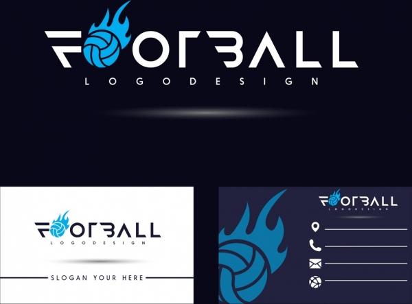 name card template football logotype decor