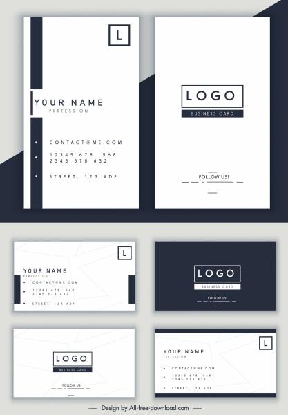 name card template simple horizontal vertical design