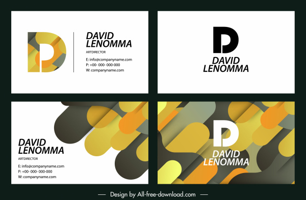 name card templates bright colorful flat mixtures decor