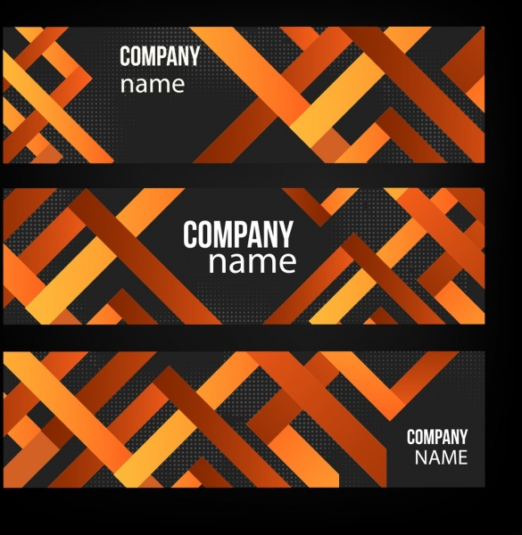 name card templates modern abstract crossed lines decor