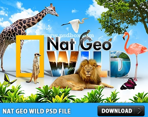 Nat Geo Wild Psd File Free Psd In Photoshop Psd Psd File Format