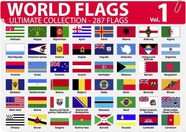 national or regional flag and regional flag vector 1