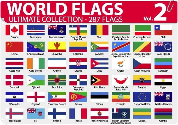 national or regional flag and regional flag vector 2