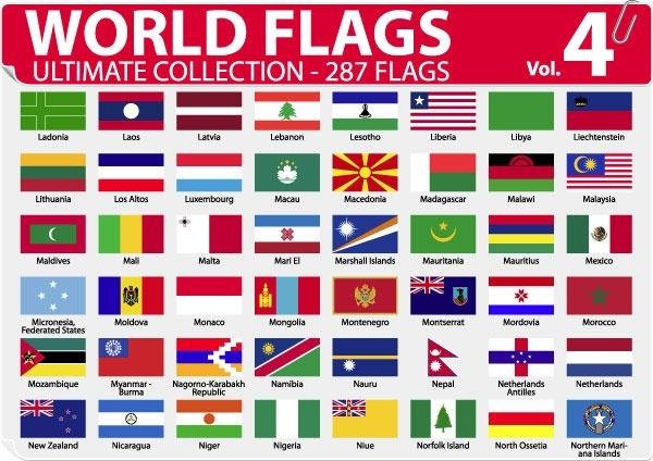national or regional flag and regional flag vector 4
