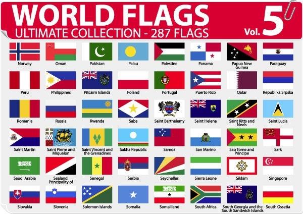 national or regional flag and regional flag vector 5