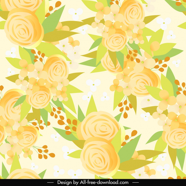natural botanical background template elegant bright petals decor